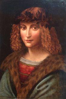 Leonardo'nun hizmetçisi ve asistanı Gian Giacomo Caprotti da Oreno'nun anonim bir ressam tarafından çizilmiş portresi (1505 dolaylarında)