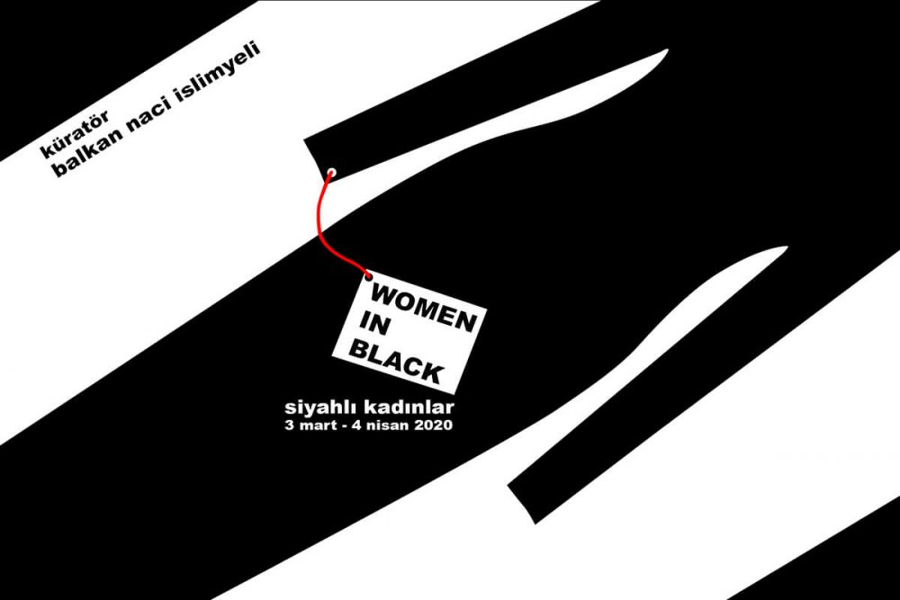 'Kadın, Yaşam, Umut ve Yas'' Siyahlı Kadınlar Sergisi