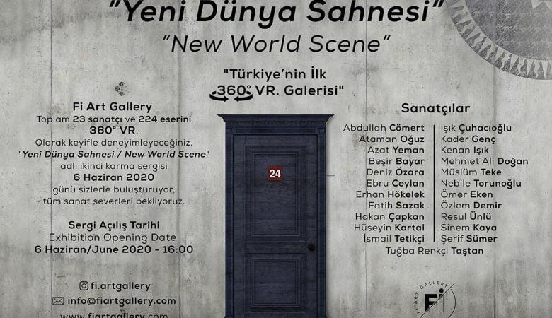 """Fi Art Gallery'nin ikinci karma sergisi, """"Yeni Dünya Sahnesi"""" 6 Haziran'da!"""