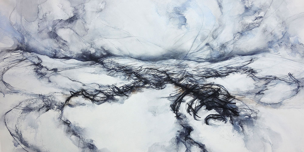 Minus Numbers  2020  70x140 cm  Water-soluble Pastels, Charcoal and Pencil on Canvas