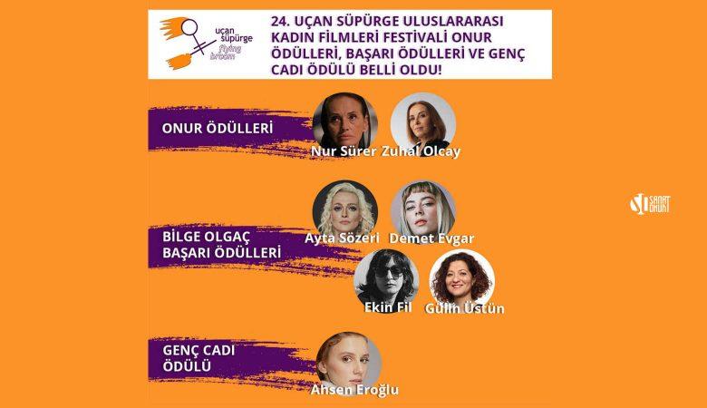 24. Uçan Süpürge Uluslararası Kadın Filmleri Festivali Onur ve Başarı Ödülleri Belli Oldu!