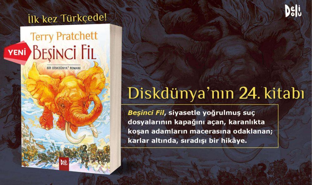 """Diskdünya'nın 24. Kitabı """"Beşinci Fil"""" Yayımlandı!"""