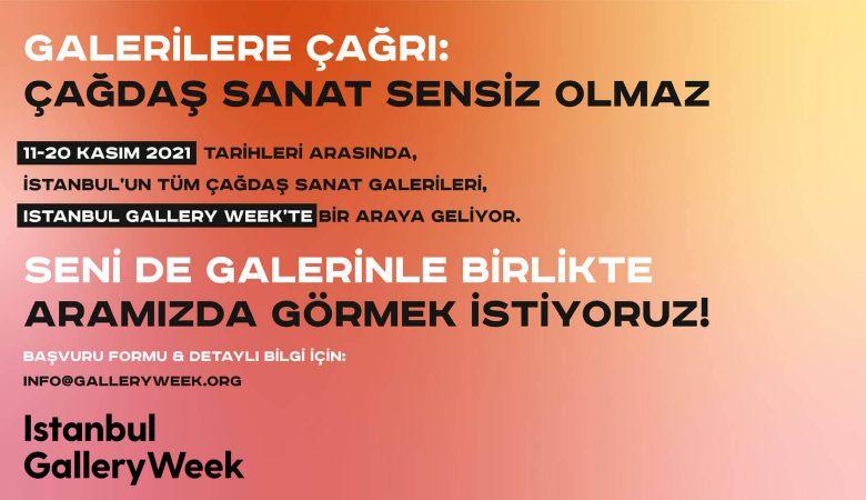 İstanbul Gallery Week Katılımcılarını Arıyor!