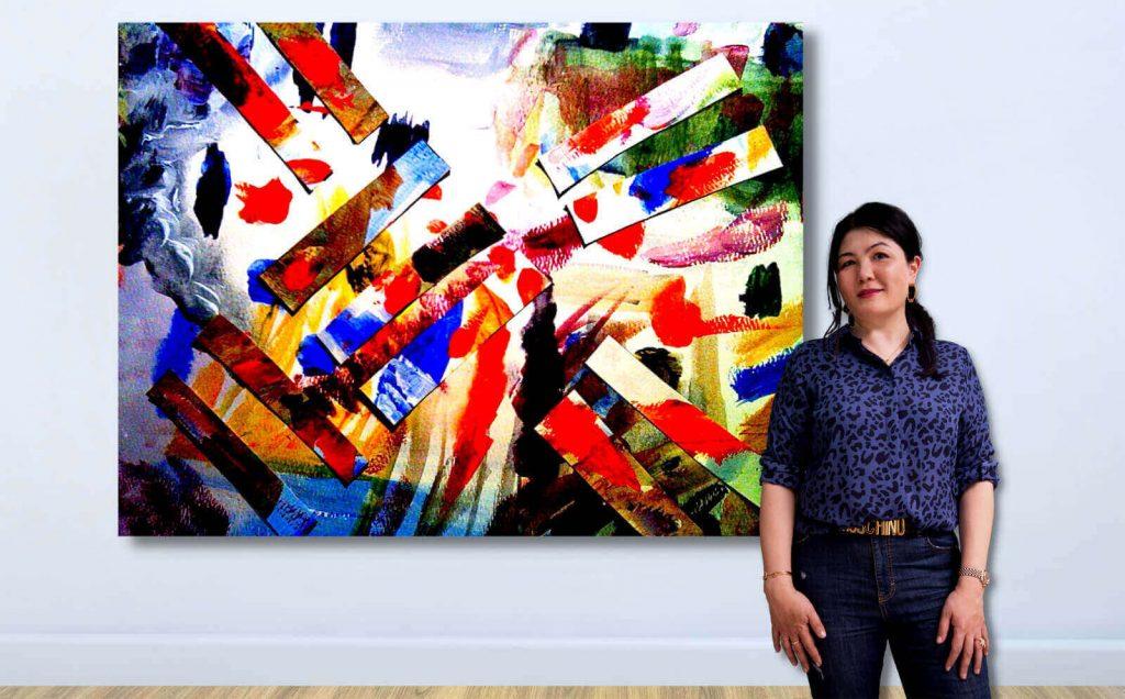 Çağdaş Sanatçı Gao Anqi(Melek Kocasinan) Galeri Binyıl'la CI21'de
