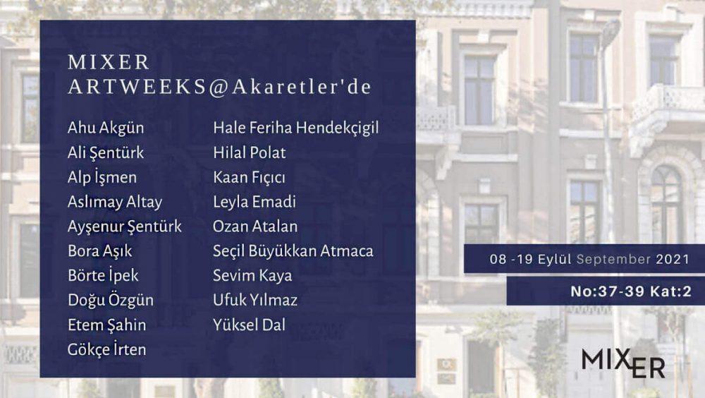 Mixer, 10 Eylül'de Artweeks@Akaretler'de!