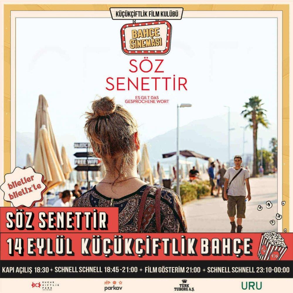 """İlker Çatak'ın """"Söz Senettir"""" Filmi Türkiye'de İlk Kez KüçükÇiftlik Park'ta"""