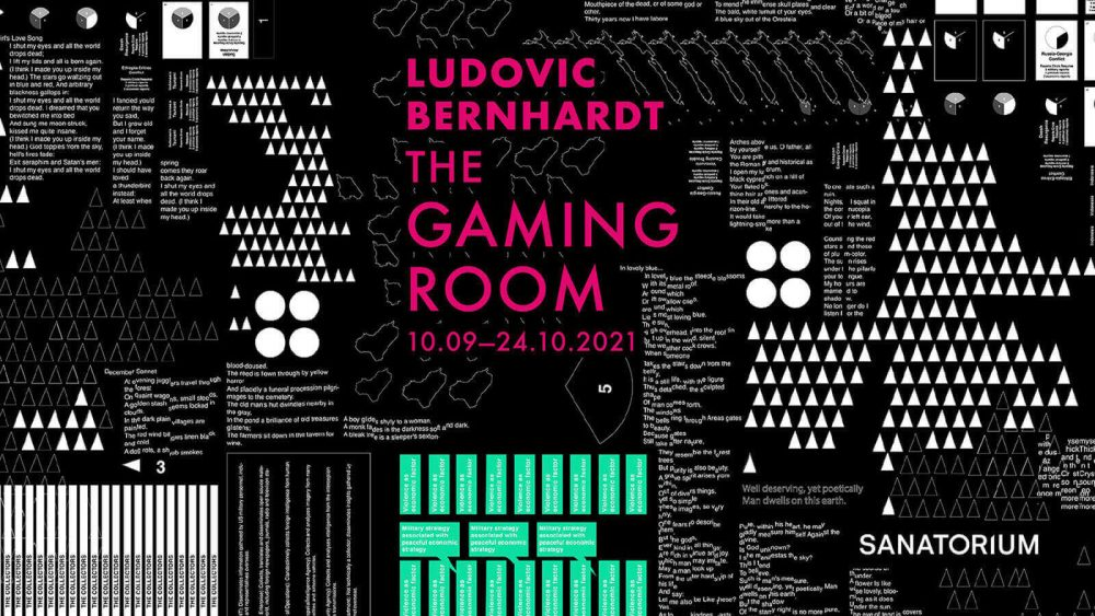 """Ludovic Bernhardt'ın Sanatorium'daki Kişisel Sergisi: """"The Gaming Room"""""""