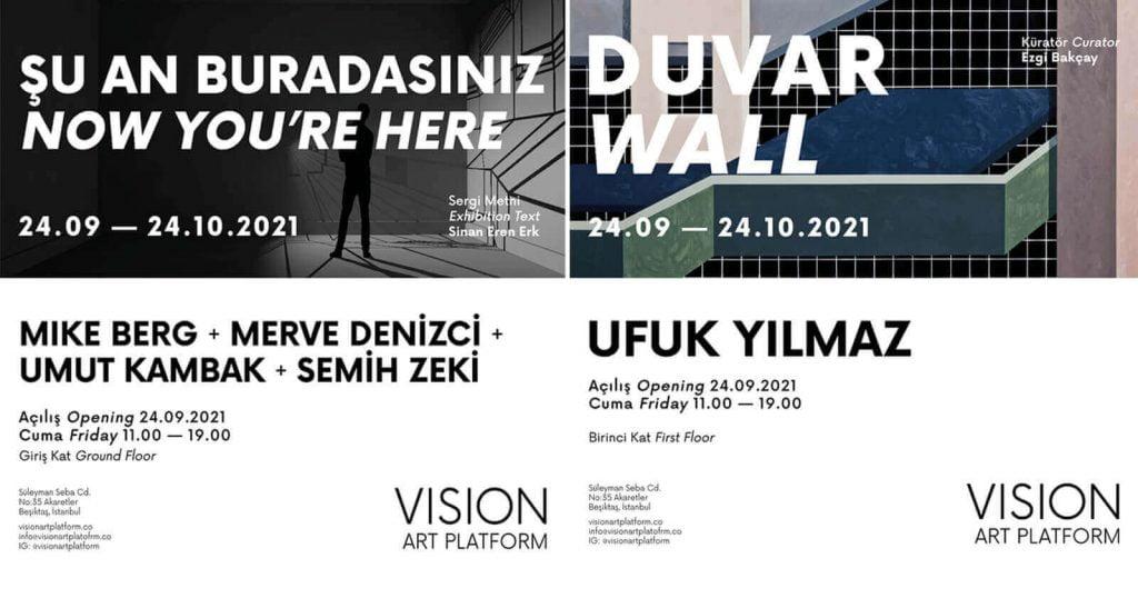 Vision Art Platform Ekim Sergileri