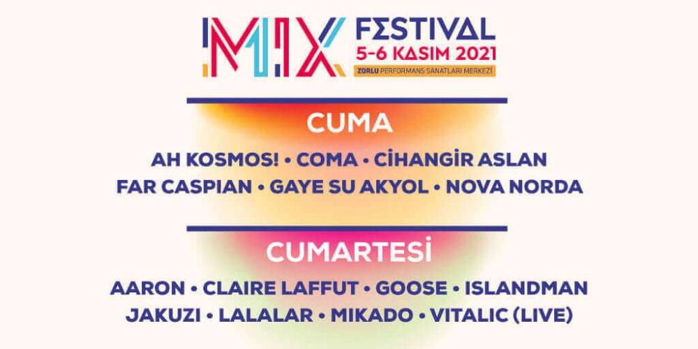 'Çok Sesli Festival' MIX Festival 5-6 Kasım'da Zorlu PSM'de